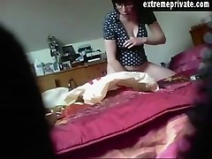 spy camera shows milf Annouk toying her snatch