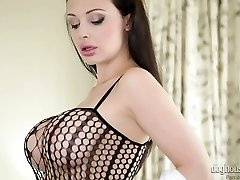 Sexy mother Aletta Ocean in hot wanking solo compilation
