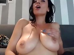 Horny mum jizzes on herself and lick it on cam