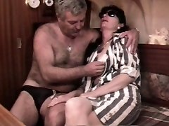 Vintage French sex video with a mature furry duo