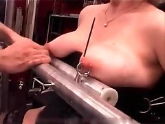 My Sumptuous Piercings - heavy pierced slave tortured with candle