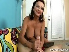 Persia handjob is stepson