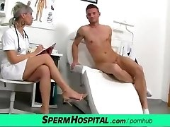 CFNM manstick medical exam with sexy Czech MILF doctor Beate