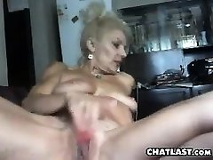 Busty granny solo activity