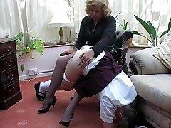 Grandma spanks grandaughter 2