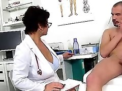 Dirty czech cougar Gabina is mischievous doctor in cfnm action