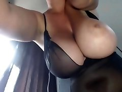 Mom's Big Boobs - Smoking BBW
