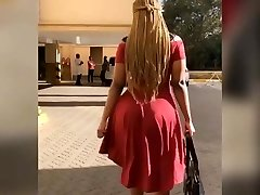 Big butt african in sundress