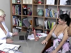 LACEYSTARR - Mature doctor fucked by interracial duo
