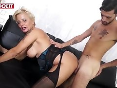 LETSDOEIT - Mature Italian Granny Gets Rough Fuck-fest At Pornography Casting