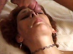 Redhead mummy fucked on sofa - Telsev