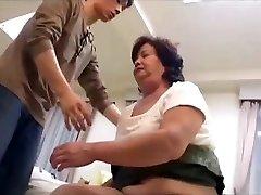 Hairy bbw japanese grannie loves taboo