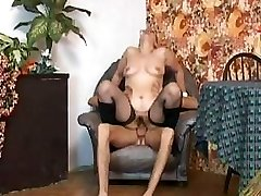 Grandma In Fishnets Nails And Cum On Glasses