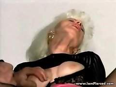 Iam Pierced grandmother with pussy piercings fucking in the truck