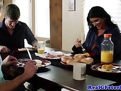 Cheating mature wifey torn up by house guest