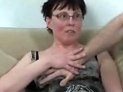 Horny mature fisted and drilled by guy and dark-hued babe