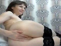 Shy milf fisting herself on cam