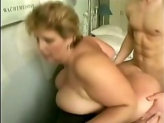 grandma with large tits fucks young guy