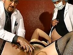 Fat French mature gets weird ass fucking injections