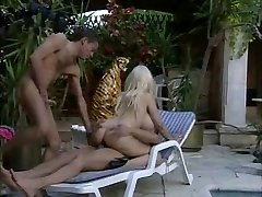 Lolo Ferrari  -  Milf fucked by two guys