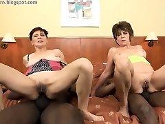 Grannie anal BBC orgy