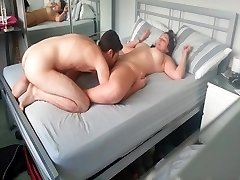 Munching wifes cunt in room
