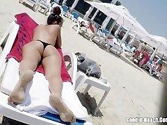 Thong Backside Bikini horny Milfs Beach Spycam HD