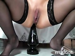 Huge-chested mature fucking enormous faux-cocks