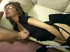 Wife moans loudly while fucked in bum