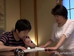 Chiaki Takeshita arousing mature Asian honey in position 69