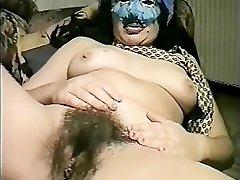 Masked Italian COUGAR fucks herself