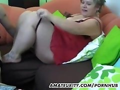 Chubby unexperienced Milf homemade hardcore act