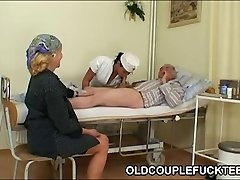 Granddad ravages hot slutty nurse