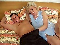 Grandmother in sofa