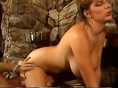 Retro Mindy Rae rides twinks face with her constricted twat then bonks