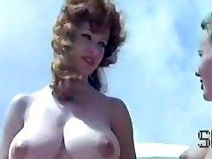 Vintage naturist camp scene