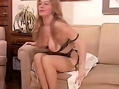 Vintage Hairy Mature has a Threesome and DOUBLE PENETRATION in Lingerie!