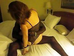 Classical brunette wifey interacial cuckold
