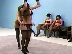 femdom flogging in lingerie (brassiere and fullback pantys)