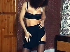 Vintage mature tights striptease dance