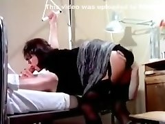 Pissing patient having wet fun in health center