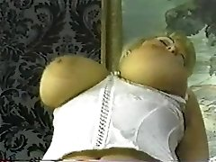 Vintage chubby blond with huge bazookas