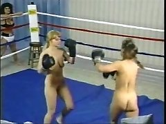 Vintage Topless Boxing Struggle