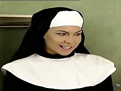 German Nun Lure to Tear Up by Prister in Classic Porn Movie
