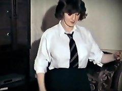 Entire LOTTA ROSIE - vintage big bosoms schoolgirl strip dance