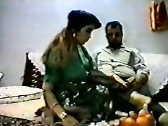 Vintage arab amateur couple make rigid homemad