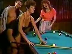 Sharon Mitchell and acquaintance banged on the pool table