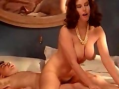 Retro busty MILF enjoys forbidden stiffy
