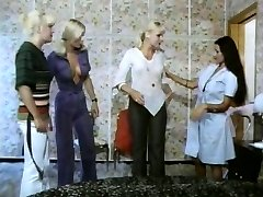 Five girls super-steamy as lava