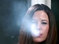 Smoking Fetish - Classical Brunette Nicolette smokers reds